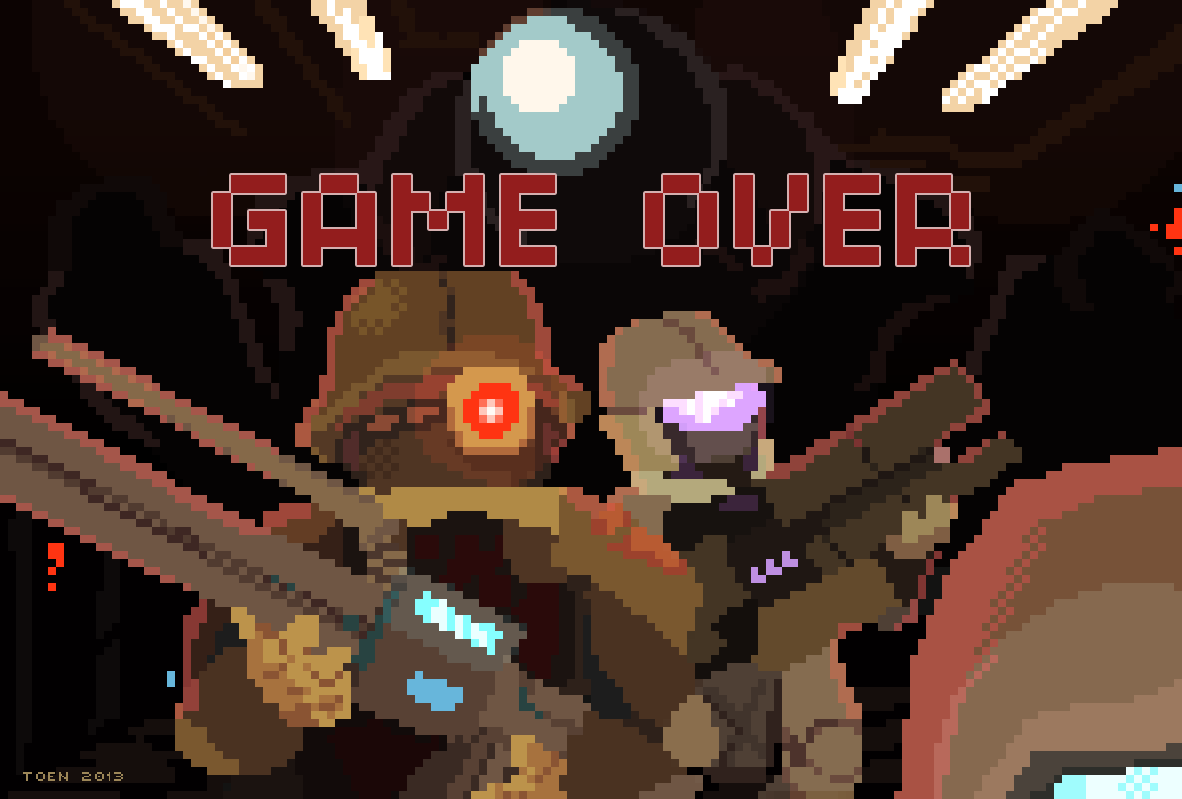 Steam Marines Game Over Screen